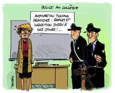 police CDG 22 : Des képis dans le préau