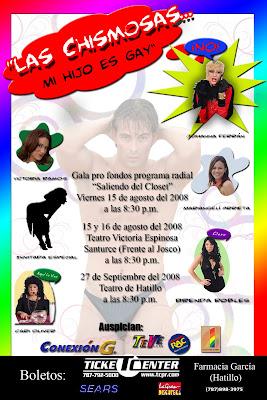 Saliendo del Clóset: Gala de Obra Las Chismosas-Mi Hijo es gay ...