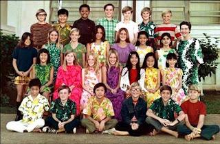 Barack Obama con sólo diez años en una escuela de Hawaii