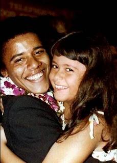 Barack Obama y su hermana Maya