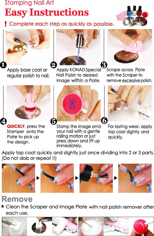 Stephy Stamping Nail Art: HOW TO USE KONAD STAMPING NAIL ART