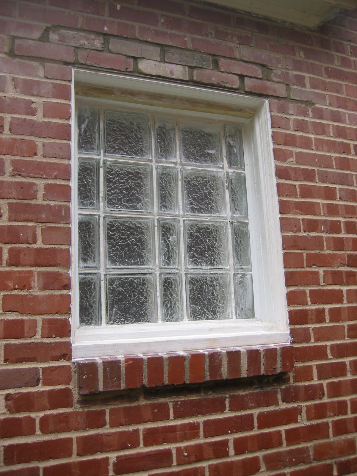 DammanWorks Carpentry Glass Block Bathroom Window