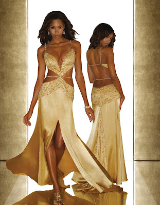 gold wedding dress sexy glamorous