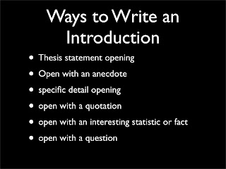 writing a good introduction