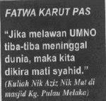 Punca Rusuhan ialah Fatwa Nik Azi