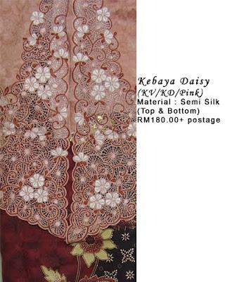 SOLD : RM180 + P&P - Kebaya Daisy Pink