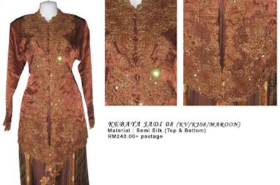 Size L: RM240 + P&P - KJ08 Kebaya Jadi Maroon