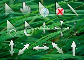 Glass Cursors Optimized 21 Cusor pack Untuk Windows Xp dan Windows 7