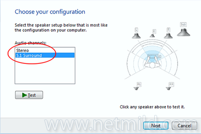 setup Cara Setup Surround Sound pada Windows 7