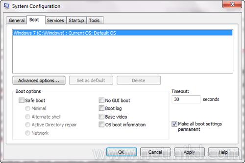 msconfig Apply Mengatur Memori maksimum yang akan digunakan oleh Windows 7