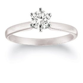 Platinum Princess Cut Solitaire Diamond Engagement Ring