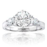 Diamond Engagement Ring in 14 kt. Accented Mounting Size 11.5