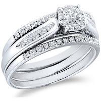 White Gold Diamond Ladies Womens Bridal Engagement Ring