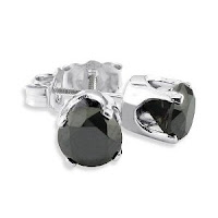 1 1/2ct Black Diamond Stud Earrings