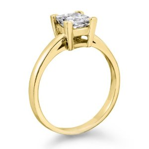 Yellow Gold Princess Ring