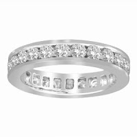 14k White Gold Channel Set ring