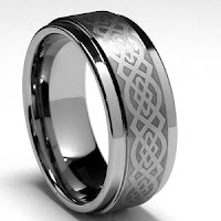 Men's Tungsten Carbide Ring with Celtic Design