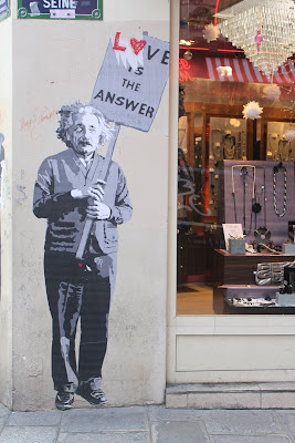 Street Art Paris - Einstein Poster