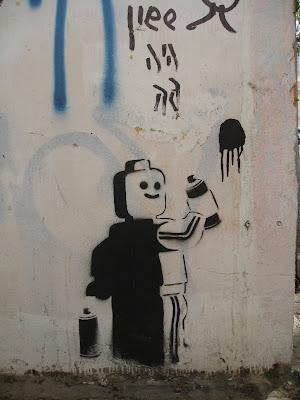 Street Art in Tel Aviv Lego Stencil 3