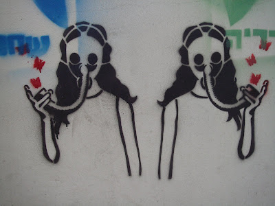 Gas Mask Woman Graffiti