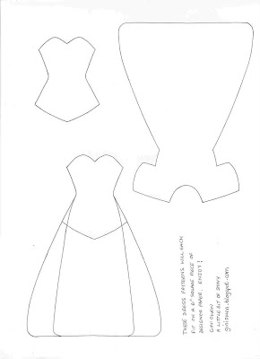 a little bit of shiny paper dresses template