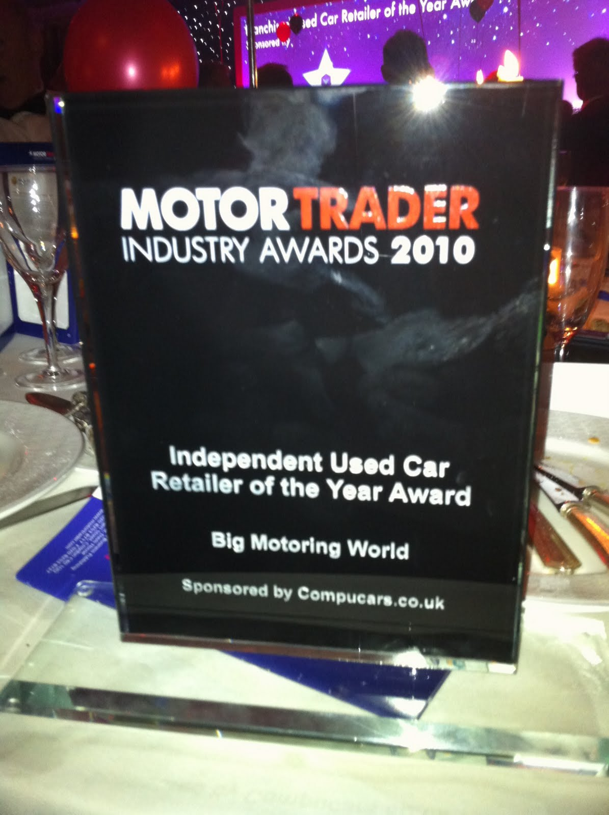 We are proud to share the news that big motoring world recently won independent used car retailer of the year at the motor trader industry awards 2010