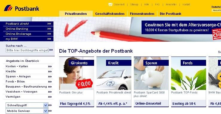 la banque postale consulter compte cr dit la banque postale allemande postbank allemagne. Black Bedroom Furniture Sets. Home Design Ideas