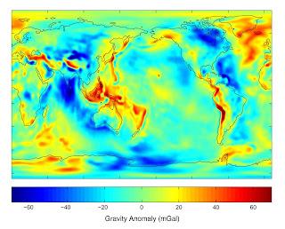 peta gravitasi dunia, medan gravitasi, segitiga bermuda