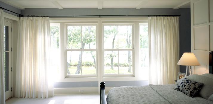 Ill decor bedroom in white and grey - Cortinas blancas modernas ...