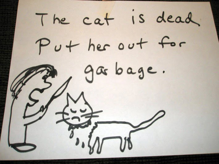 THE CAT IS DEAD