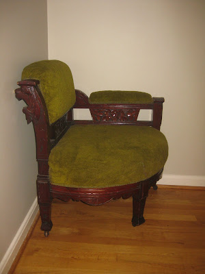 ... And A Corner Chair In My Upstairs Hall, All From The Same Victorian  Furniture Set. That Pea Green Upholstery From The 70u0027s Is A Terry Cloth  Towel, ...