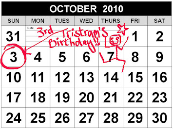 Tristram's Birthday: Sunday 3rd October