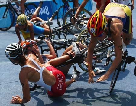 The Women's Triathlon at the Beijing Olympics was a torrid affair. You