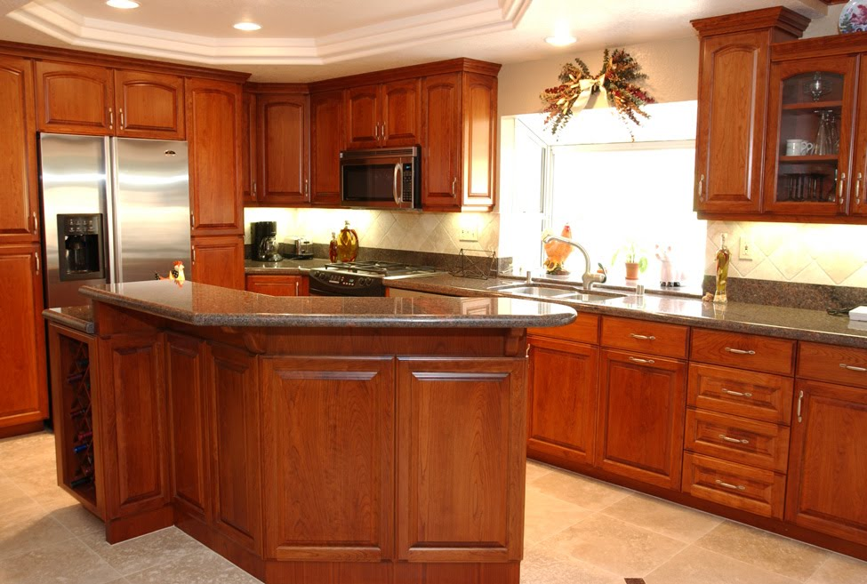 Cherry Cabinets In Kitchen