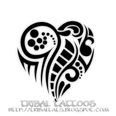 tribal tattoos flash 10 unique designs of tribal heart tattoos. Black Bedroom Furniture Sets. Home Design Ideas