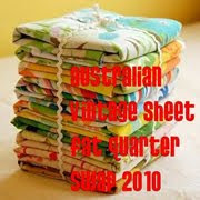 Australian Vintage Sheet FQ Swap 2010