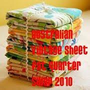 Australian Vintage Sheet FQ Swap 2010