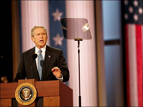 bush teleprompter