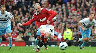 Manchester united vs West Bromwich Albion, rooney shoot