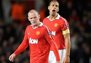 wayne rooney and rio ferdinand man utd players