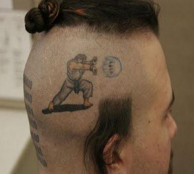 hair tattoo, tattoo design kung-fu