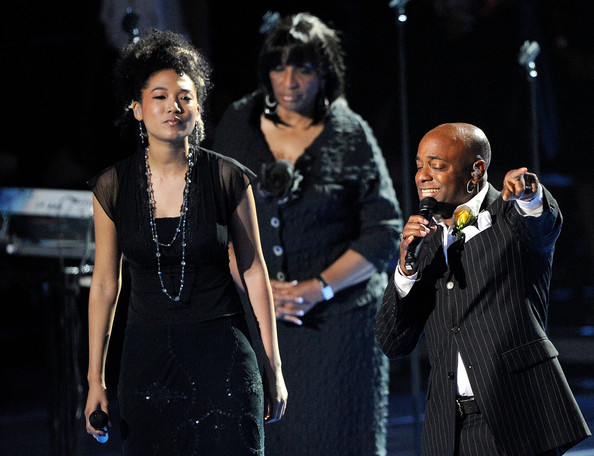 Judith Hill at Michael Jackson Memorial on July 7, 2009