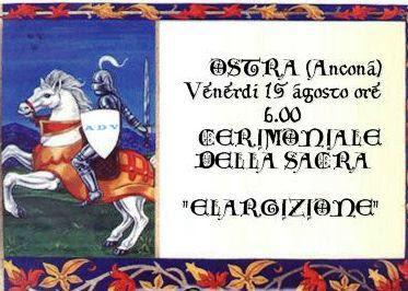 OSTRA-SACRA CERIMONIA DI ELARGIZIONE DEL NOBILE ADONIR
