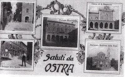 Ostra, cartolina del 1912, Edizioni Fermigliano Barchiesi