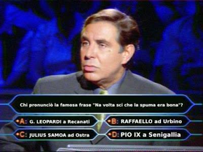 Quiz,Ostra,il milionario,Samoa