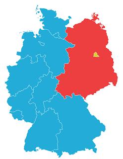La federaciaj landoj de FRG en 1957