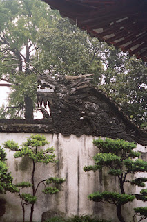 Dragon in the Yu Yuan Gardens