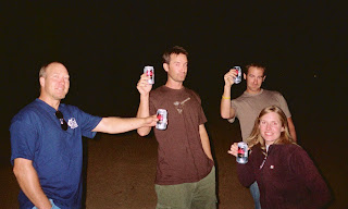 Kurt, Dave, Joe & Suzie drinking Budweiser Select
