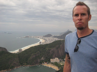 The view of Copacabana Beach from Sugerloaf Mountain in Rio.