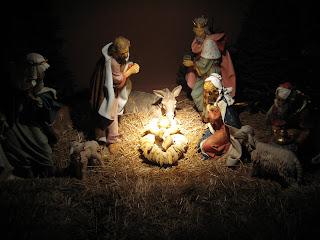 Nativity Scene outside Immaculata Church at USD